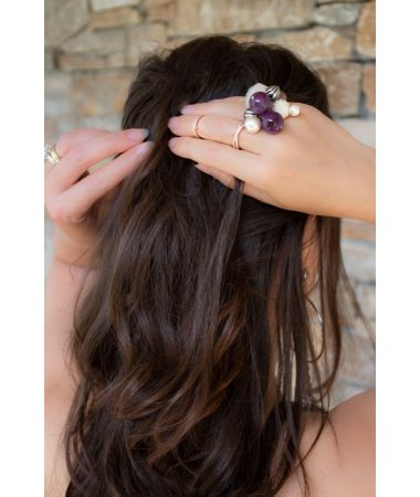 Prstan Beaded Rock Crystal / Beaded Rock Crystal Ring