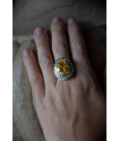 Prstan Yellow Crystal / Yellow Crystal Ring