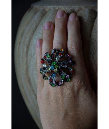 Prstan Rainbow Rose / Rainbow Rose Ring