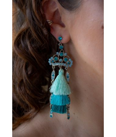 Uhani Tourquise crystals / Tourquise Crystals Earrings