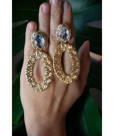 Uhani Crystal Bar / Crystal Bar Earrings