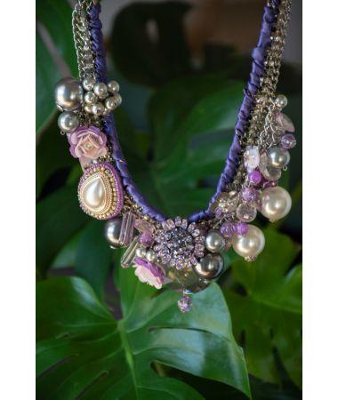 Ogrlica Diamond Pave Charms / Diamond Pave Charms Necklace
