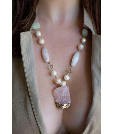 Ogrlica Diamond Crescent Moon / Diamond Crescent Moon Necklace
