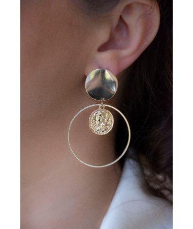 Uhani The Full Moon Disk / The Full Moon Disk Earrings