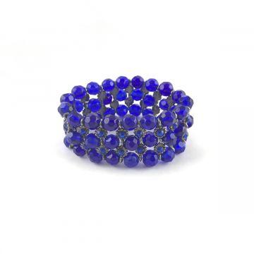 Zapestnica iz stekla v modri barvi