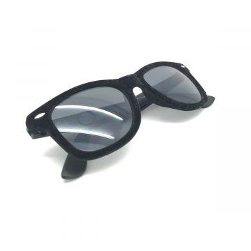 Očala z žametnim okvirjem v črni barvi