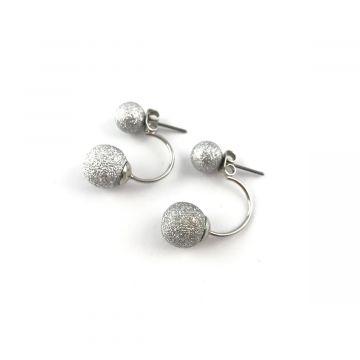 Uhani srebrne kroglice