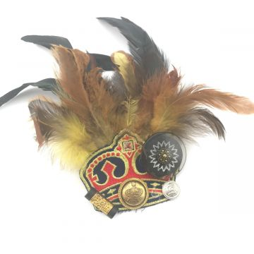 Broška krona iz perja