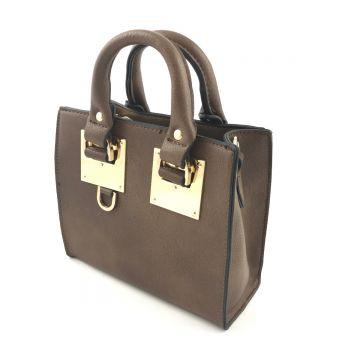 Mini torbica v rjavi barvi