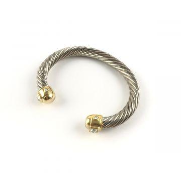 Zapestnica v srebrno zlati kovini