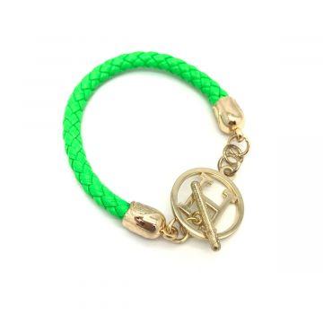 Zapestnica s sponko H v zeleni barvi