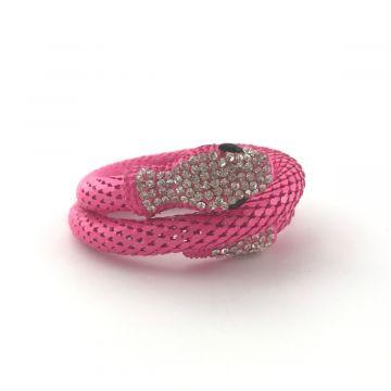 Zapestnica kača v roza barvi