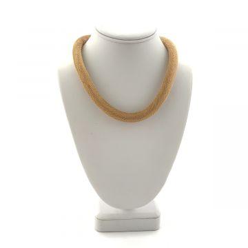 Ogrlica iz kovine v zlati barvi