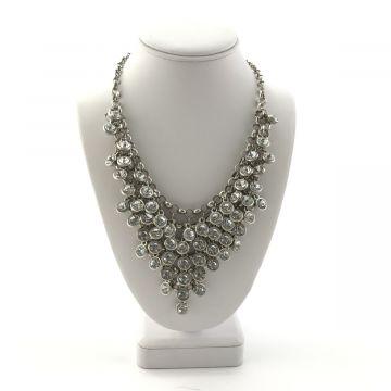 Ogrlica iz kristalčkov v srebrni barvi Viva