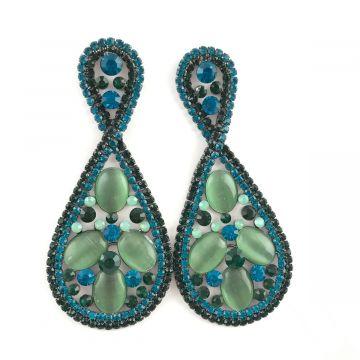 Svečani uhani iz barvnih kristalov