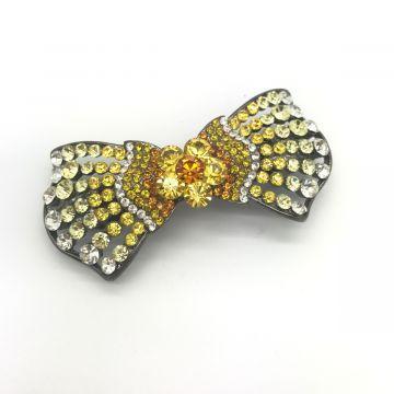 Sponka za lase iz rumenih kristalov Laniyah