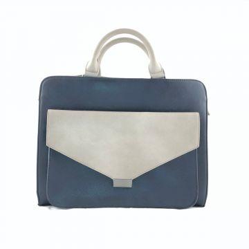 Dvobarvna torba poslovnega izgleda Iva