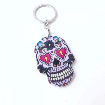 Obesek Skull vijolične barve