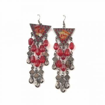 Uhani Red Vintage