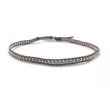 Ogrlica choker ali zapestnica za navijanje iz srebrnih kroglic