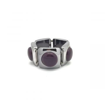 Zapestnica v vijolični in sivi barvi
