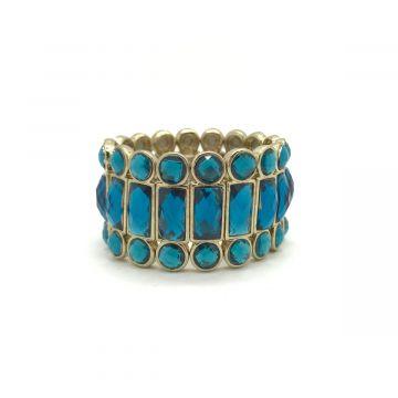 Zapestnica iz modrih steklenih kristalov