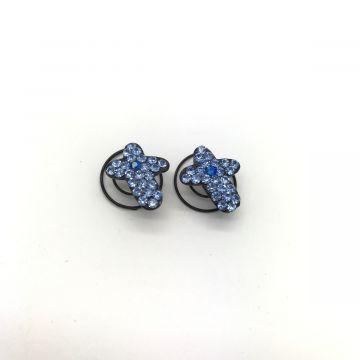 Okraski za lase iz modrih kristalčkov