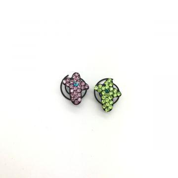 Okraski za lase v vijolični in zeleni barvi