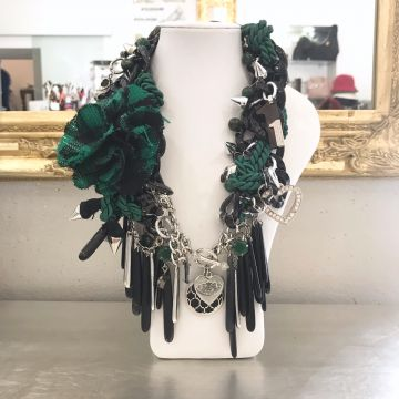 Unikatna ogrlica Green Vibes