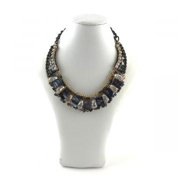 Ogrlica v črno sivi barvi