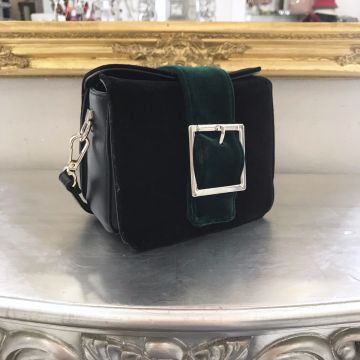 Mini žametna torbica Iva