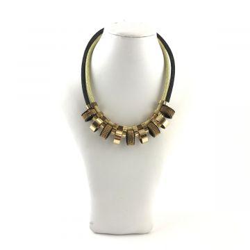 Ogrlica črno zlate barve