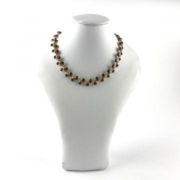 Ogrlica iz rjavih kristalčkov