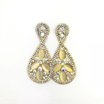 Svečani uhani iz zlatih kristalov