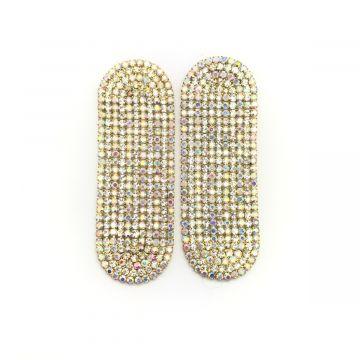 Svečani uhani ploščate oblike Nashelle