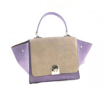Dvobarvna torba Iva / Vijolična in bež