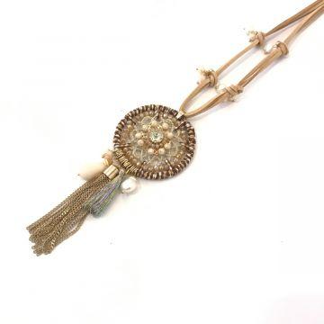 Dolga ogrlica z obeskom
