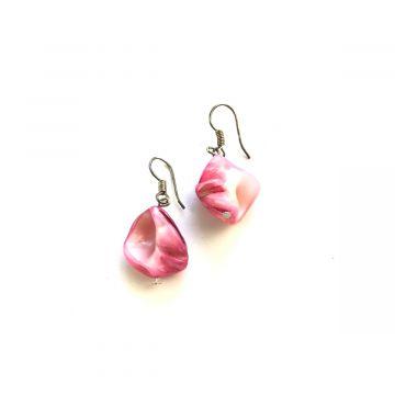 Uhani roza školjke