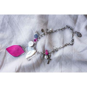 Ogrlica Pnk Leaf / Pink Leaf Necklace
