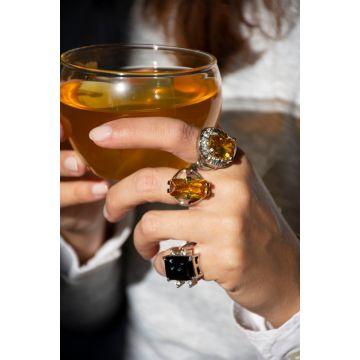 Prstan Rumen Kristal / Yellow Crystal Ring