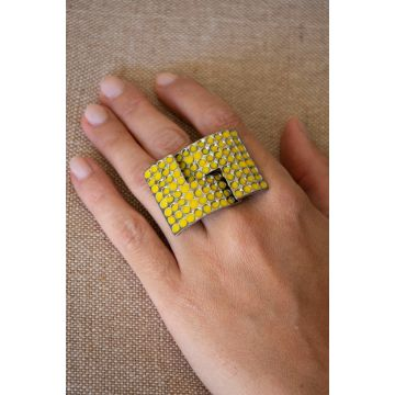 Prstan Yellow Square / Yellow Square Ring