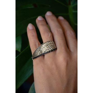 Prstan Srebrna Perut / Silver Wing Ring