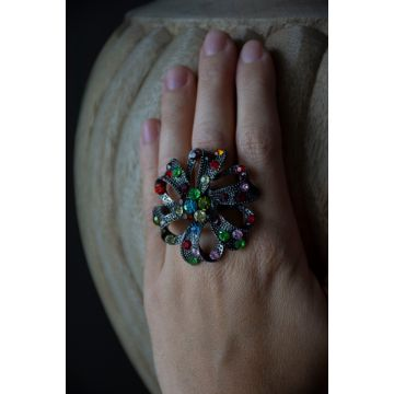 Prstan Rainbow Rose / Rainbow Rose Ring