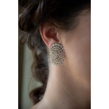 Uhani Diamond Crescent Moon / The Diamond Crescent Moon Earrings