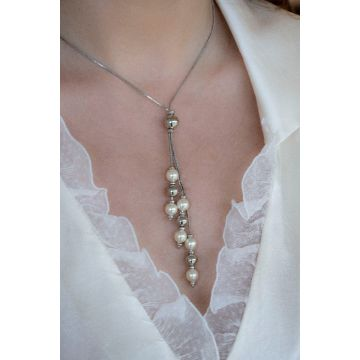 Ogrlica Silver Sunset Pearl Soleil / Silver Sunset Pearl Soleil Necklace
