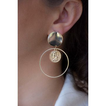 Uhani The Full Moon Disk / The Full Moon Disk Earrings