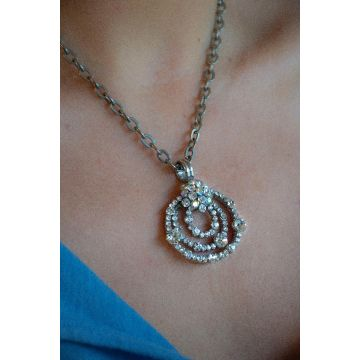 Ogrlica Silver and Crystals / Silver and crystals Necklace
