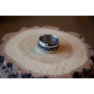 Moški prstan Brushed Stainless Steel / Brushed Stainless Steel Men Ring