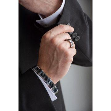 Moška zapestnica iz nerjavečega jekla / Man Bracelet from Stainless Steel