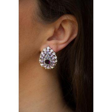 Uhani Diamond Fleur / The Diamond Fleur Earrings